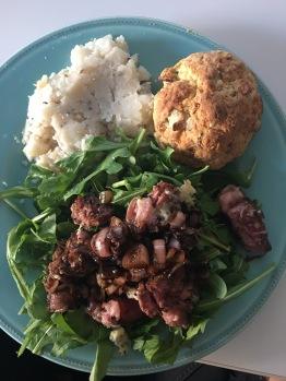 Steak Arugula Salad with Chimichurri Sauce